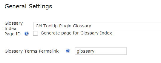 glossary terms Index Page
