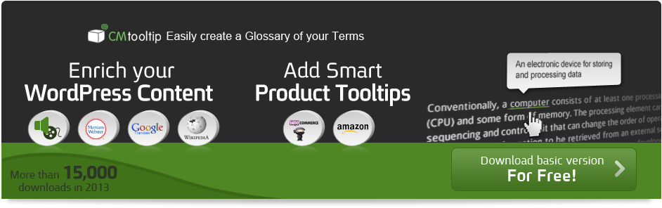 CM Tooltip Glossary Plugin
