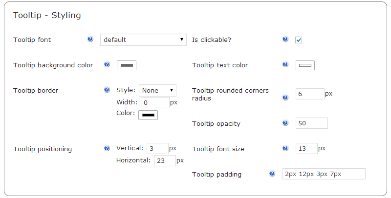 modifying your WordPress Tooltip Style- CM tooltip glossary plugin