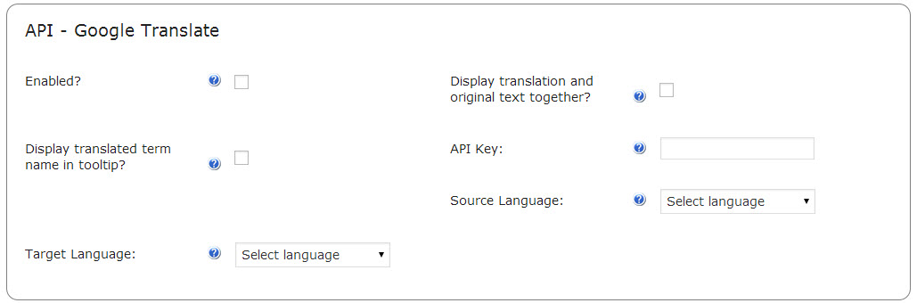 CM WordPress Plugins- Google translate API