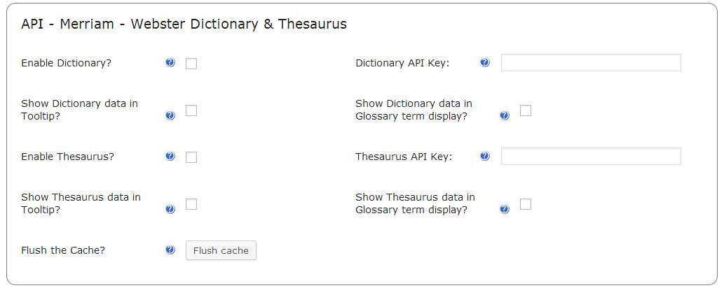 CM Plugins Tooltip Merriam Webster dictionary API