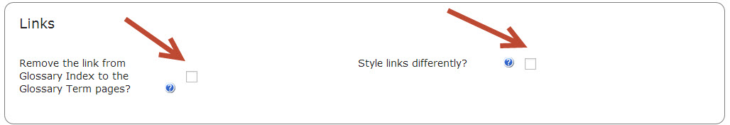 index display modes- links- CM Tooltip glossary plugin for WordPress