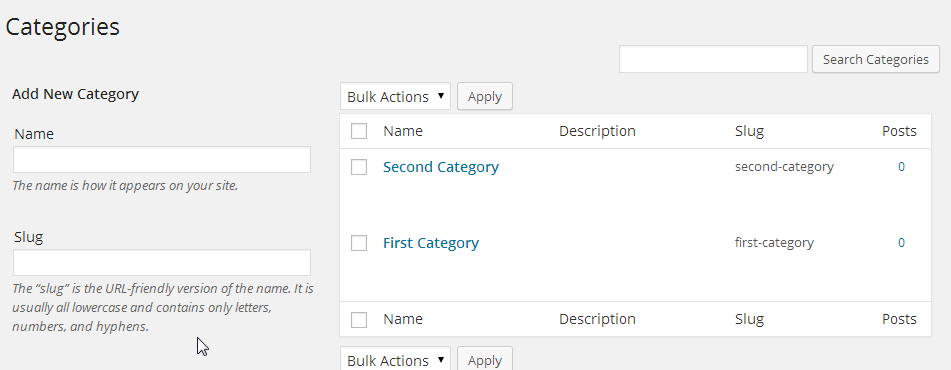 creating Term Categories with the CM tooltip plugin for wordpress