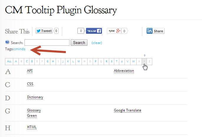 Using Term Tags on your CM tooltip glossary WordPress plugin2