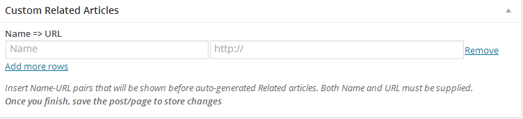CM tooltip plugin for wordpress- custom Related posts